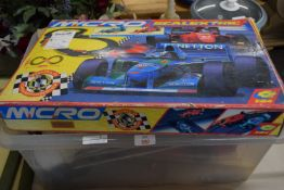 SCALEXTRIC BOX AND VARIOUS CHILDREN'S TOYS, PUTTERS ETC