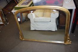 OVERMANTEL MIRROR WITH GILT EFFECT FRAME