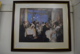 PRINT OF A DINING SCENE