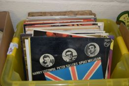 BOX CONTAINING LPS, THE GOONS, ROY ORBISON ETC