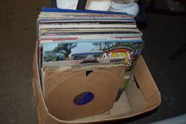 BOX OF LPS, POP MUSIC, MAX BYGRAVES ETC