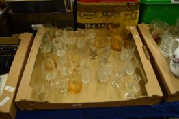 TRAY CONTAINING GLASS WARES