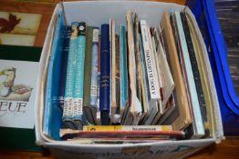 SMALL BOX OF BOOKS, MODEL SHIPBUILDER, AERO MODELLER ETC