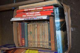 BOX OF BOOKS, CHILDREN'S AND CHILDREN'S ANNUALS, SHOOT ANNUAL 1988-89 ETC