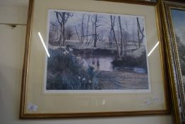 PRINT LIMITED EDITION 259/750 OF A LANDSCAPE SCENE
