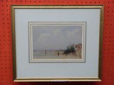 James Holland (1800-1870), Watercolour, Estuary Scene, 15 x 21cm