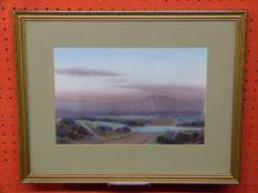 Watercolour, Heath landscape, signed Mehill, 18 x 27cm