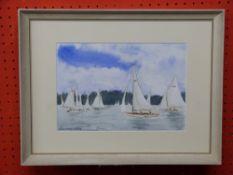 "Init DP, Watercolour, ""Wroxham Regatta"", 19 x 29cm"