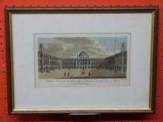 Print: Somerset House, Inner Court, 1785