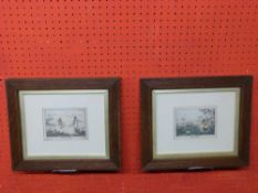 """Two small Alken engravings, """"Grouse Shooting"""" and """"Duck Shooting"""", ea 10 x 13cm"""