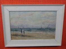 Unsigned Watercolour, absract Landscape, 36 x 52cm