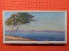 C20th Italian School, signed LL Geo Granimy, Oil on board, Lake Landscape titled verso, approx 36