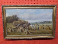 William Vivian Tippet, Oil, Harvest wagon