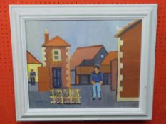 """Derek Inwood, """"Windham Arms Yard, Sheringham"""", 39 x 50cm"""