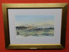 Ltd ed Print ,after HRH the Prince of Wales, no 80, view in the South of France