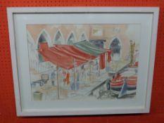 Colin T Johnson, Venetian Market Scene, 41 x 57cm