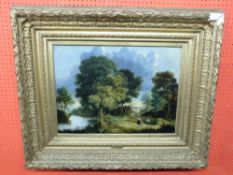 John Middleton, signed and dated 1855, Oil on canvas, Rural Landscape with Shooting and other