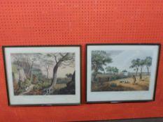 Pr framed Shooting interest Orme Engravings, after Howitt, 32 x 44cm