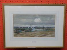 C M Wigg, 1889-1969, Watercolour, Broadland Sailing Scene, 19 x 34cm, prov Mandells Gallery ,Norwich