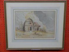 C19th British School, Unsigned Watercolour, Fishermen's Huts, 21 x 29cm