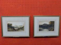 Pr watercolour sketches Mountainous Landscapes, each 14 x 21cm