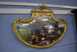 Giltwood and gesso mirror, width approx 87cm