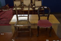 Two miniature chairs, the larger height approx 51cm