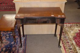 An early 19th century mahogany fold-top card table raised on cabriole legs, width approx 82cm