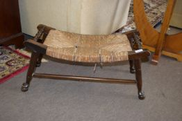 19th century rustic foot stool, length approx 67cm