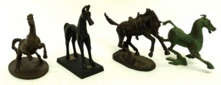 Group of models of horses by Renaissance Arts and others (4)