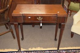 Early 19th century mahogany fold-top tea table, approx 76cm square