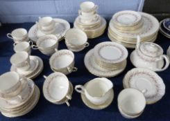 Quantity of Paragon dinner and tea wares in the Harmony pattern comprising 9 dinner plates, side