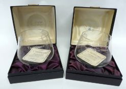 Two boxed Caithness Royal Cipher bowls to commemorate the marriage of the Prince of Wales and Lady