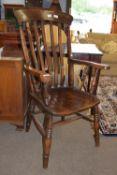 Dark oak Windsor carver chair