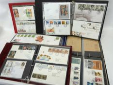 Five albums mainly of first day covers