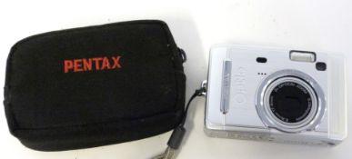 Pentax Optio S50 digital camera with case