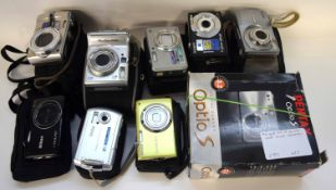Mixed Lot: point and shoot cameras