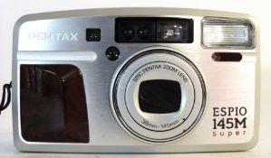 Pentax Espio 145m Super film camera with film already loaded plus case