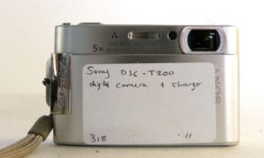 Sony DSC-T200 digital camera and charger