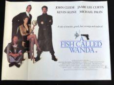 A Fish called Wanda quad poster