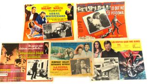 Selection of Mexican lobby cards to include: La Espia que me Amo (The Spy Who Loved Me), Sociedad