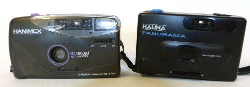 Hanimex IC450 0AF film camera with Halina Panorama film camera