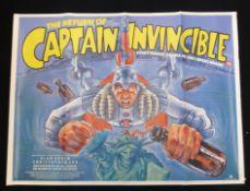 The Return of Captain Invincible quad poster