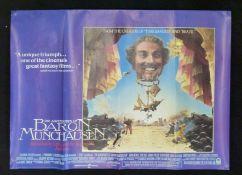 The Adventures of Baron Munchausen quad poster