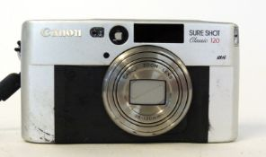 Canon Sureshot Classic 120 film camera with film already loaded, and case