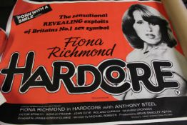 UK quad poster for 1976 film Expose starring Fiona Richmond, directed by James Clarke, together with