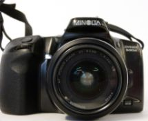 Minolta Dynax 500 SI with a powerzoom AF35-80mm lens