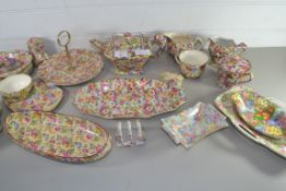 TEA WARES BY ROYAL WINTON WITH FLORAL DESIGNS, SOME IN THE SUMMERTIME PATTERN