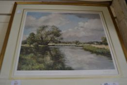 PRINT SIGNED BY WILLIAM GARFIT, SIGNED TO MOUNT