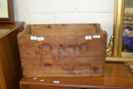 VINTAGE BISTO WOODEN BOX, LENGTH 57CM